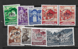 1937 MNH Liechtenstein, Mi 20-27  Postfris** (both Colours Of The 20rp) - Oficial
