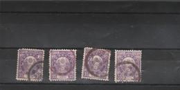 Japon 1888 1892 : 4 Timbres 15 Sen Voir Dentelure Oblitération - Used Stamps