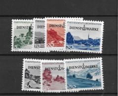 1947 MNH Liechtenstein, Mi 28-34  Postfris** - Official