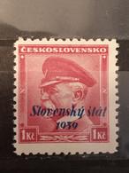 Eslovaquia. 1939. Slovensky Stat 1939. 1 K.** - Nuevos
