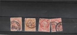 Japon 1888 1892 : 4 Timbres 20 Sen Voir Dentelure Oblitération - Used Stamps