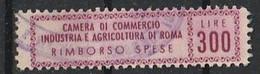 Roma. Marca Municipale (marca Comunale) CAMERA DI COMMERCIO Rimborso Spese L. 300 - Otros