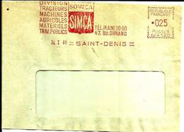 Lettre EMA Havas 1961   Someca Simca Automobile Agriculture Tracteur 75 St Denis C39/49 - Factories & Industries
