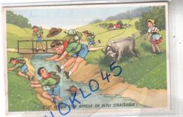 Scoutisme Humour - C' EST CE QU'ON APPELLE UN REPLI STRATEGIQUE - Chèvre Attaque  - CPA Couleur MIP N° 138 Généalogie - Scouting