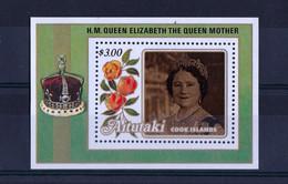 UMM 1985 Queen Mother M/S - Aitutaki