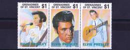 UMM 1992 Strip Of 3 Elvis - St.Vincent E Grenadine