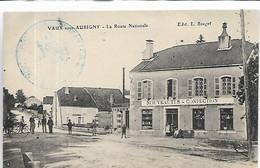 52, Haute-Marne, VAUX-sous-AUBIGNY, La Route Nationale, Personnages Et Magasin, Scan Recto-Verso - Other Municipalities