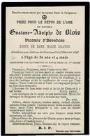 ROUCOURT (Château) - Gustave Adolphe De BLOIS - Vicomte D'ARONDEAU - époux M. GRANGE - Décédé En Son Châtea 1898 - Images Religieuses