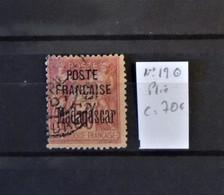 04 - 21 / Madagascar N°19 - Plié - Cote : 70 Euros - Used Stamps