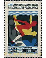 Ref. 89421 * MNH * - URUGUAY. 1976. 23 SOUTH AMERICAN SWIMMING CHAMPIONSHIPS. . 23 CAMPEONATOS SUDAMERICANOS DE NATACIO - Uruguay