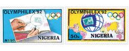 Ref. 27999 * MNH * - NIGERIA. 1992. OLYMPHILEX 92. INTERNATIONAL PHILATELIC EXHIBITION . OLYMPHILEX 92. EXPOSICION INTER - Nigeria (1961-...)