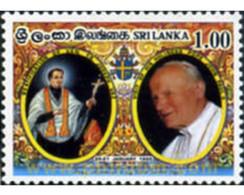 Ref. 332917 * MNH * - SRI LANKA. 1995. VISIT OF POPE JOHN PAUL II . VISITA DE SS EL PAPA JUAN PABLO II - Popes