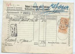 N°77(x2) SUR VALEURS A RECOUVRER EN RECOMMANDE - 1906 Wilhelm IV.