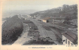 GARES Sans TRAIN - 58 - CHATEAU CHINON : La Gare - CPA Colorisée 1906 - Nièvre - Stazioni Senza Treni