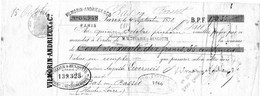 VILMORIN-ANDRIEUX PARIS 1878 - Letras De Cambio