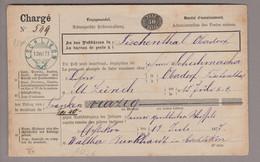 CH Heimat TG Eschlikon 1877-07-13 Blau Auf 50Rp. Einzugsmandat GS Nach Fischenthal - Covers & Documents
