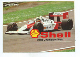 Carte Autocollant Adhesive Shell World Champions Team Formule 1 Ayrton Senna Grand Prix - Grand Prix / F1