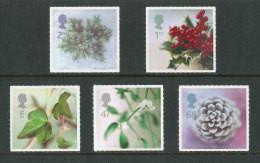 GRANDE-BRETAGNE - 2002 - Yvert  2379/2383 - NEUFS ** Luxe MNH - Série Complète 5 Valeurs - Noël, Flore - Unused Stamps