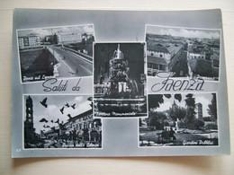 1958 - Saluti Da Faenza - Ravenna - Fontana Monumentale - Ponte Sul Lamone  Piazza Della Libertà - Gruss Aus.../ Grüsse Aus...