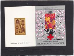 1975 CARNET CROIX ROUGE N°2024 Réf YVERT Et TELIER  ( Deux Scans Recto Verso + Timbres ) - Cruz Roja