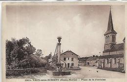 52, Haute-Marne, VAUX-sous-AUBIGNY, Place De La Fontaine, Scan Recto-Verso - Other Municipalities