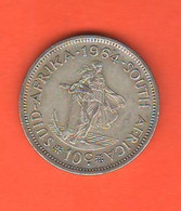 Sud Africa 10 Centesimi 1964 South Africa 10 Cents Silver Coin - Sudáfrica