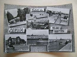1962 - Saluti Da Cervia Milano Marittima - Via Milazzo - Porto Canale - Monumento A Grazia Deledda - - Gruss Aus.../ Grüsse Aus...