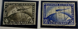 ALLEMAGNE - DEUTSCHES REICH - N°Y37 M=424 Gruf Zeppelin 4m 1928 - (2m.défeckt Nich Gezählt Défectueux Non Compté) - - Usati