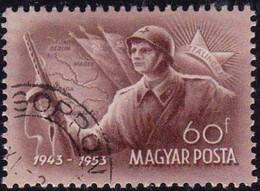 HONGRIE - Bataille De Stalingrad : Fantassin Soviétique, Carte Et Drapeau - Sommer 1952: Helsinki
