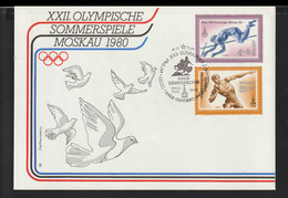 Soviet FDC 1980 Moscow Olympic Games (G129-42) - Sommer 1980: Moskau