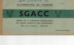 Autorisation De Passage SGACC No 00929 - Otros