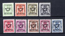 PRE428/436 MNH** 1939 - Klein Staatswapen Opdruk Type D - REEKS 17 - Typografisch 1936-51 (Klein Staatswapen)