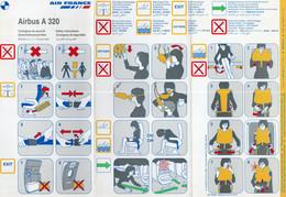 AIR FRANCE AIRBUS A 320 - Fichas De Seguridad