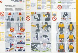 AIR FRANCE AIRBUS A 321 - Fichas De Seguridad