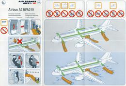 AIR FRANCE AIRBUS A 318/A 319 - Fichas De Seguridad