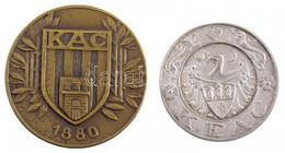 """Konkoly Sugár József (1887-) ~1910. """"KEAC - Kolozsvári Egyetemi Atlétikai Club"""" Jelzett Ag Díjérem """"S.G.A. (Scheid Ezüst - Unclassified"""