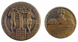 """Göröntsér Greff Lajos (1888-1976) 1936. """"Magyar Úszó-Szövetség Bajnoki Érme / Vizipóló III. 1936."""" Br Díjérem (57,65g/51 - Unclassified"""