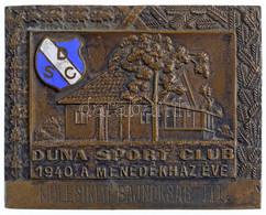 """1940. """"Duna Sport Club - 1940 A Menedékház éve - Műlesikló Bajnokság III."""" Egyoldalas Br Plakett Zománcozott """"DSC"""" Címer - Unclassified"""