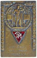 """1941. """"Emlékül - 1941. Pünkösd - Dreher L.E."""" Egyoldalas Br Plakett Zománcozott """"Dreher LE"""" Címerrel (86,18g/42x67mm) T: - Unclassified"""
