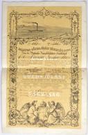 """1846. """"Balaton-Gőzhajózási Társaság"""" Részvénye 150Ft-ról Wenczel Gustav Részére, Sajátkezű Forgatmánnyal Fia Részére T:I - Unclassified"""