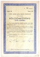 """Budapest 1947. """"A Pesti Chevra Kadisa Izraelita Szentegylet 4%-kal Kamatozó Kölcsön Kötvénye"""" 50Ft-ról, Kitöltött, Négy  - Unclassified"""
