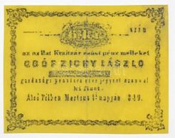 """Alsó Pél 1849. 6kr """"gróf Zichy László"""" Füredi Féle Hamisítványa T:II / Hungary / Alsó Pél (Dolný Pial) 1849. 6 Kreuzer """" - Unclassified"""