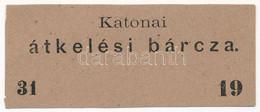 "~1880. ""Katonai átkelési Bárcza"" Hídbárca T:I- / Hungary ~1880. ""Military Crossing Label"" Bridge Label C:AU - Unclassified"