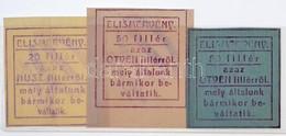 """Sepsiszentgyörgy 1915-1916. 20f + 50f (2xklf) Elismervények, Mindhárom Hátoldalán """"Klinger Henrik"""" Felülbélyegzéssel T:I - Unclassified"""
