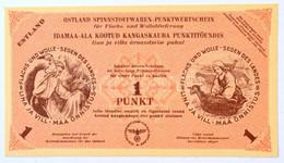 Német 3. Birodalom / Ostland / Észtország 1944. 1P Textiláru Bón T:I / German Third Reich / Ostland / Estonia 1944. 1 Pu - Unclassified