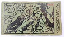 Orosz Birodalom / Barnaul / Tiszti Hadifogolytábor ~1918. 3R Piros Kézi Sorszámmal, Hátlapon Kézi és Bélyegzős Aláírás,  - Unclassified