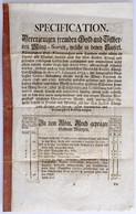 """Osztrák-Magyar Monarchia ~1755. """"Leírás A Külföldi Arany- és Ezüstérmék átváltásához"""" 6 Oldalon, Gerincén Ragasztva, Kit - Unclassified"""