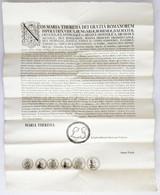1774. Mária Terézia Nagy Méretű Hirdetménye, Rendelete és Előírásai A Szászországi II. Ernst Lajos 1/3 és 2/3 Tallérjáva - Unclassified