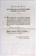 """Ausztria 1830. """"Az Enns Alatti Osztrák Főhercegség Császári és Királyi Tartományi Kormányzósága Körlevele és Hirdetménye - Unclassified"""