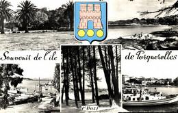 N°9730 Z -cpsm Souvenir De L'île De Porquerolles - Gruss Aus.../ Grüsse Aus...
